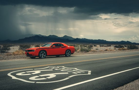 Dodge Challenger route 66 road trip