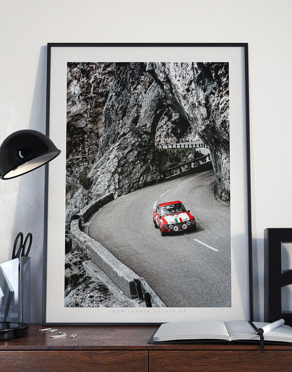 Lancia Fulvia Prints, Lancia Gift, Vintage Rally Print - Automotive Photography Prints and Wall Art by LOIC KERNEN