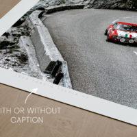 Lancia Fulvia Prints, Lancia Gift, Vintage Rally Print - Automotive Photography Prints and Wall Art by LOIC KERNEN