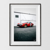 Ferrari Daytona Print, Vintage Motorsport Wall Art and Decor Ideas
