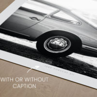 Porsche 911 Print in Black & White, Automotive Wall Art and gifts