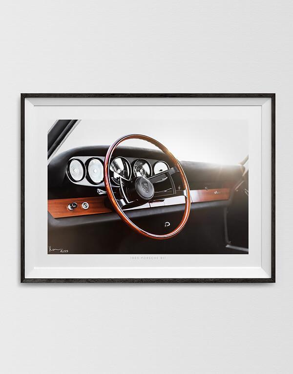 Porsche 911 Interior Dashboard Print, Automotive Wall Art and gifts