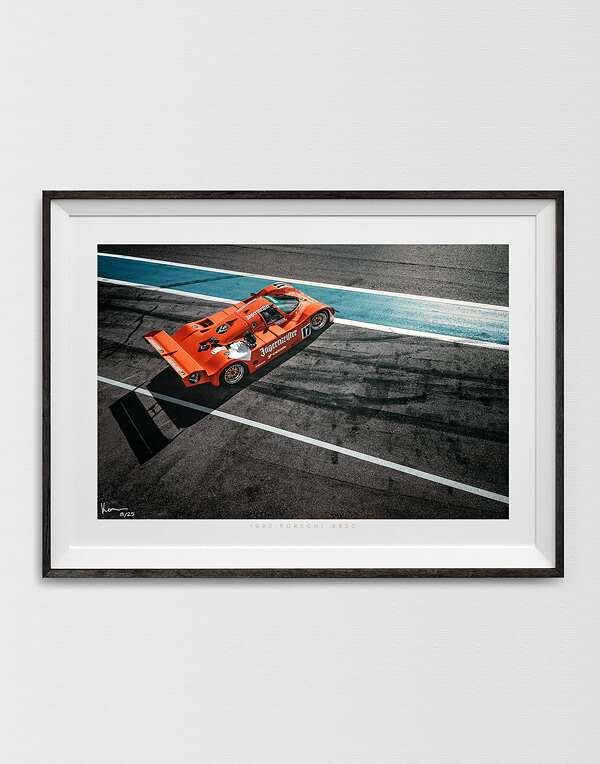 Porsche 962 Print, Racecar in the pitlane, Automotive Wall Art and gifts