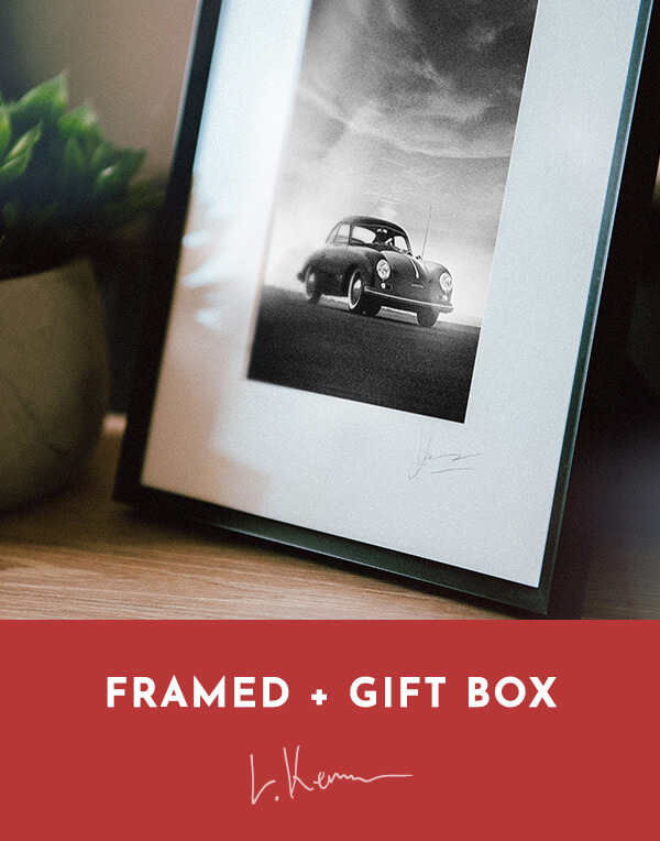 Classic Porsche 356 Black and White Photography Print WallArt Framed Gift