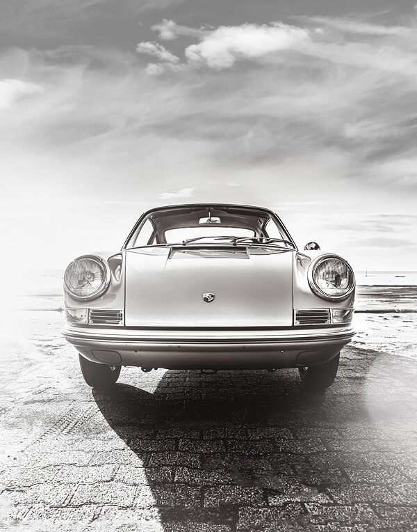 Porsche 911 Fine Art Photography Print Black and White