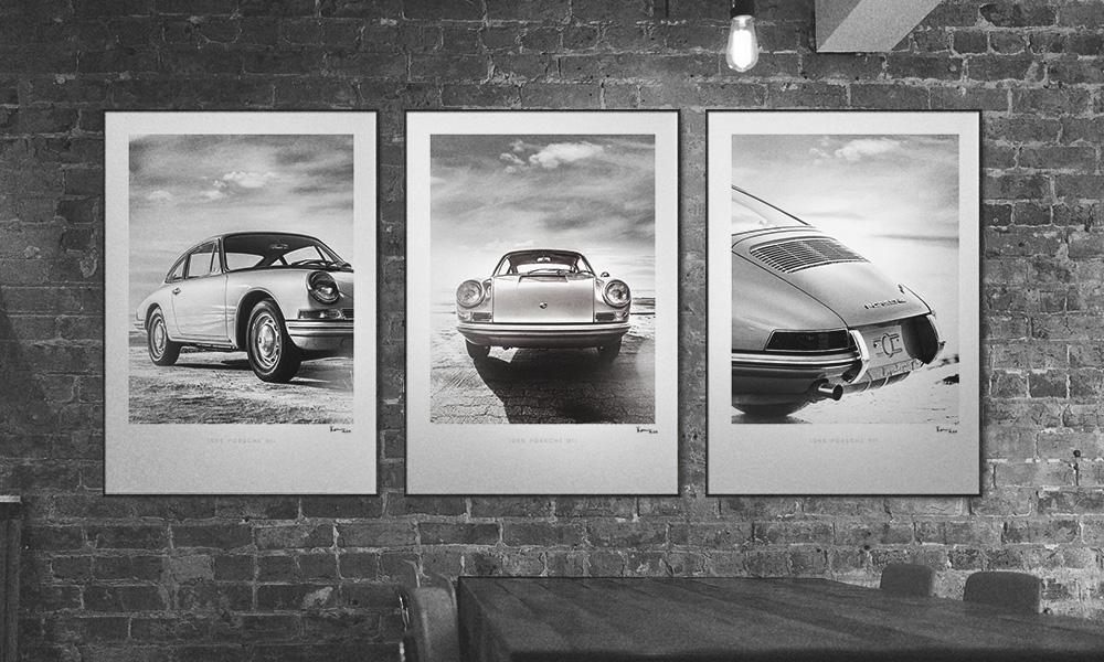 1965 Porsche 911 Wall Art - Set of 3